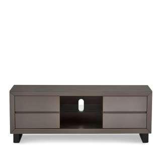 Fernsehunterschrank in Grau und Schwarz 150 cm breit