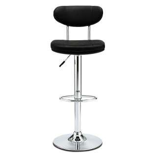Barstühle in Schwarz und Chromfarben dreh- und höhenverstellbar (2er Set)
