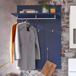 Wandgarderobe in Blau 80 cm breit