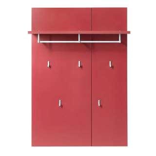 Design Garderobe in Rot 80 cm breit