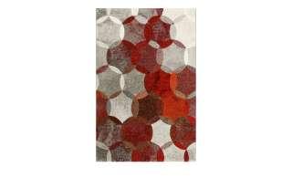 In-/Outdoorteppich Chloe - Rot/Beige - Maße: 79 x 153 cm, Safavieh