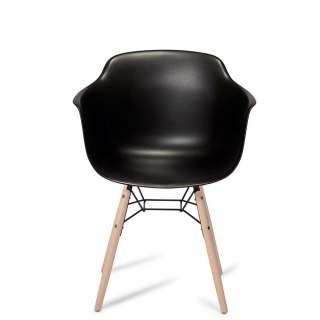 Esszimmerstühle in Schwarz Kunststoff Armlehnen (2er Set)