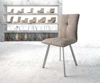 Diningsofa Narita (2-Sitzer) - Webstoff / Metall - Anthrazit, Fredriks