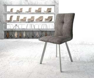 Diningsofa Narita (2-Sitzer) - Webstoff / Metall - Honig, Fredriks