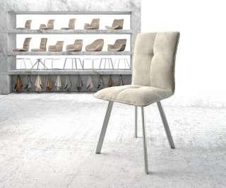 Diningsofa Narita (2-Sitzer) - Webstoff / Metall - Marineblau, Fredriks
