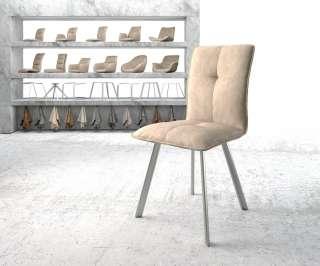Diningsofa Narita (2-Sitzer) - Webstoff / Metall - Kirschrot, Fredriks