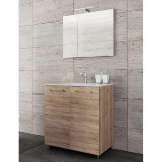 Schwingstuhl in Braun Kunstleder Loft Design (2er Set)