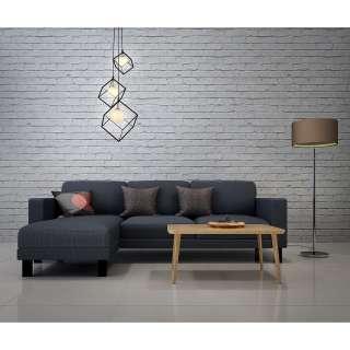Home affaire 4-teilige Wohnwand «Arosa», bestehend aus 1 Vitrine, 1 Wandregal, 1 TV-Lowboard und 1 Kommode