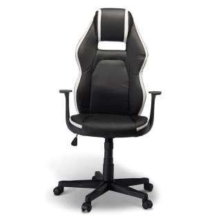 Ergonomischer Bürostuhl in Schwarz und Weiß dreh- und höhenverstellbar