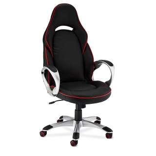 Schreibtischsessel in Schwarz und Rot verstellbarer Rückenlehne