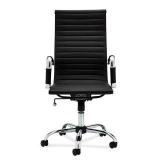 Büro Chefsessel in Schwarz Kunstleder dreh- und höhenverstellbar