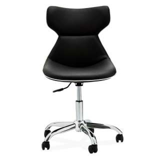 Design Drehstuhl in Schwarz und Chromfarben höhenverstellbar