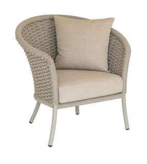 Alexander Rose - Cordial Stuhl gebogen - beige - Bezug/Anthracite - outdoor