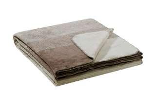 IBENA Überwurf  Egersund ¦ braun ¦ 58% Baumwolle, 35% Polyacryl, 7% Polyester ¦ Maße (cm): B: 220 Bettwaren > Tagesdecken & Bettüberwürfe - Höffner