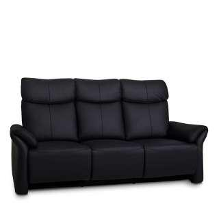 Couch in Schwarz elektrisch verstellbar