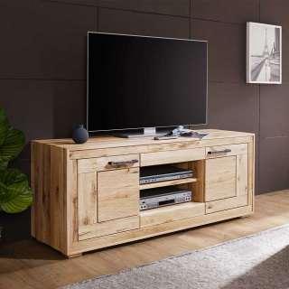 TV Tisch aus Wildeiche Massivholz hell sandgestrahlt und geölt