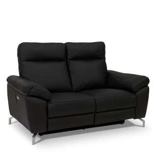 Zweisitzer Sofa mit Relaxfunktion Schwarz