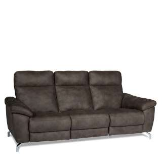 Relaxcouch in Braun Microfaser modern