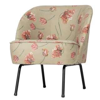 Cocktail Sessel mit Samtbezug Blumenmuster