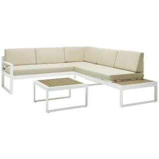 Ambia Garden LOUNGEGARNITUR Weiß, Braun Polywood® Aluminium