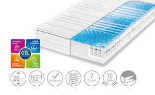 Dreamer eXpress 7-Zonen-Gelart-Tonnentaschenfederkernmatratze  Flexo 3 ¦ weiß ¦ Maße (cm): B: 100 H: 20 Matratzen & Zubehör > Matratzen Größen > Matratzen 100x200 - Höffner