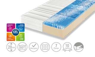Dreamer eXpress 7-Zonen-Gelart-Komfortschaumkernmatratze  Puro 3 ¦ weiß ¦ Maße (cm): B: 100 H: 20 Matratzen & Zubehör > Matratzen Größen > Matratzen 100x200 - Höffner