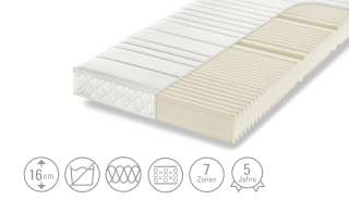 Dreamer eXpress 7-Zonen-Komfortschaumkernmatratze  Puro 1 ¦ weiß ¦ Maße (cm): B: 120 H: 16 Matratzen & Zubehör > Matratzen Größen > Matratzen 120x200 - Höffner