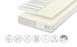 Dreamer eXpress 7-Zonen-Latex-Tonnentaschenfederkernmatraze, mit Latex-Zip-Topper  Senso 3 ¦ weiß ¦ Maße (cm): B: 120 H: 24 Matratzen & Zubehör > Matratzen Größen > Matratzen 120x200 - Höffner