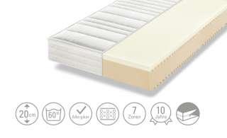 Dreamer eXpress 7-Zonen-Latex-Komfortschaumkernmatratze  Senso 1 ¦ weiß ¦ Maße (cm): B: 120 H: 20 Matratzen & Zubehör > Matratzen Größen > Matratzen 120x200 - Höffner