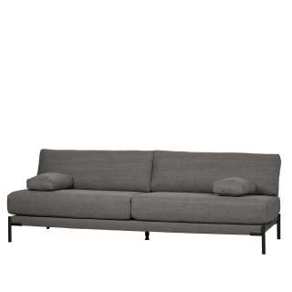Couch in Anthrazit Webstoff Federkern