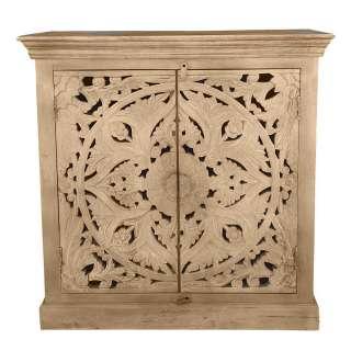 Holz Kommode aus Mangobaum Massivholz Vintage Design