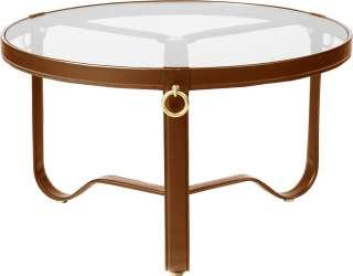 Gubi - Adnet Coffee Table - hellbraunes Leder - Circular ø 70 - indoor