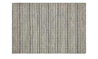 Handgewebter Outdoor Teppich  Nordic 1 ¦ schwarz ¦ 100% Wolle, Wolle ¦ Maße (cm): B: 160 Garten > Gartenzubehör > Outdoor Teppiche - Höffner