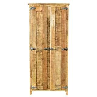 Garderobenschrank im Shabby Chic Design Mangobaum Massivholz