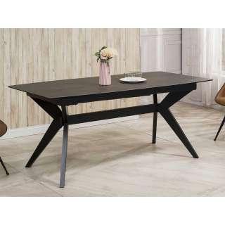 Esszimmer Tisch in Anthrazit ausziehbar