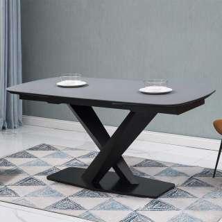 Design Esstisch mit Keramikplatte Anthrazit