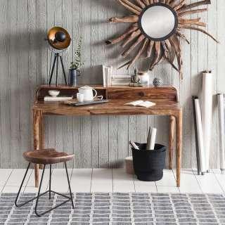 Designschreibtisch aus Akazie Massivholz Retro Style