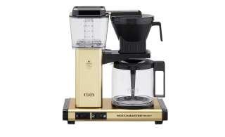 Moccamaster Kaffeautomat  KBG Select Brushed Brass ¦ gold ¦ Metall-lackiert, Glas , Kunststoff ¦ Maße (cm): B: 32 H: 36 T: 17 Elektrokleingeräte > Kaffee & Espressomaschinen - Höffner