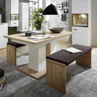 Garderobenleiste Soleto - Metall - Schwarz / Gold - 115 cm, Home Design