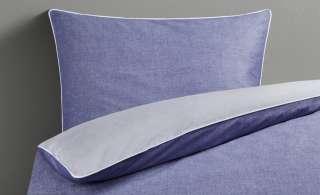 HOME STORY Renforcé-Wendebettwäsche  Chambray Piping ¦ blau ¦ reine Baumwolle ¦ Maße (cm): B: 155 Bettwaren > Bettwäsche-Sets > Bettwäsche-Sets in Übergrößen - Höffner