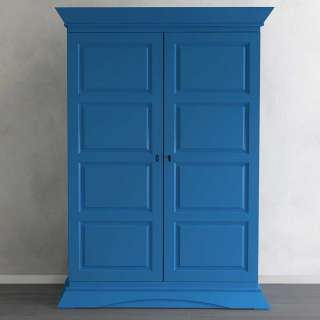 Garderobenschrank aus Fichte Massivholz Blau