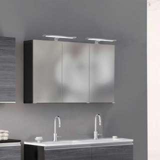 Spiegel Badschrank in Dunkelgrau 3 Türen