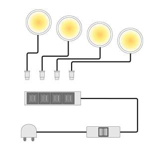 home24 LED-Powerspot Lopburi (4er-Set)