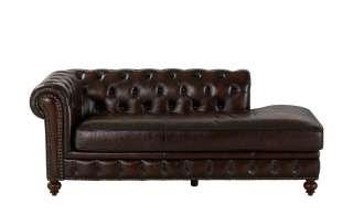 uno Recamiere  Chesterfield ¦ braun ¦ Maße (cm): B: 197 H: 80 T: 102 Polstermöbel > Sofas > Einzelsofas - Höffner