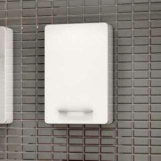 Badezimmer Hängeschrank in Hochglanz Weiß Made in Germany