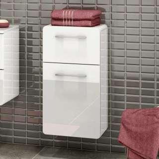 Badezimmer Unterschrank in Weiß Hochglanz 40 cm breit