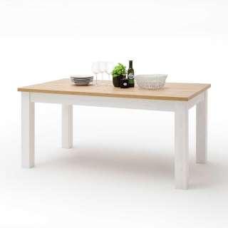 4 Stühle und Esstisch aus Eiche Massivholz Kunstleder Schwarz (5-teilig)