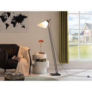 Wohnwand Arco II (4-teilig) - Hochglanz Weiß / Grau, loftscape