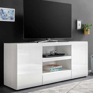 Fernsehmöbel in Weiß Hochglanz modern
