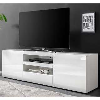 Fernseh Unterschrank in Hochglanz Weiß modern